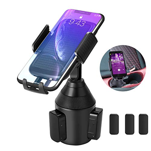[Upgraded] Car Cup Holder Phone Mount,Cell Phone Cup Mount Universal Smart Adjustable Automobile Cup Holder Cradle for iPhone 11 Xs/Max/X/XR/8/7/6 Plus Samsung Galaxy S10/S9/S8 Note 9 Sony/HTC