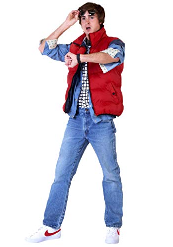 Adult Back to The Future Marty McFly Costume Large Red