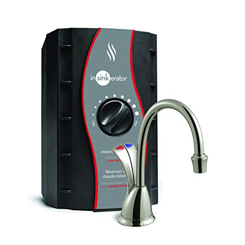 InSinkErator Wave Instant Hot and Cold Water Dispenser System, Faucet & Tank, Satin Nickel, HC-Wave-SN