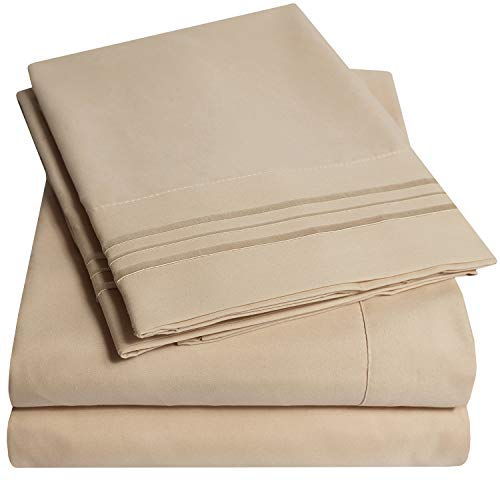 1500 Supreme Collection Bed Sheets Set - Luxury Hotel Style 4 Piece Extra Soft Sheet Set - Deep Pocket Wrinkle Free Hypoallergenic Bedding - Over 40+ Colors - King, Taupe