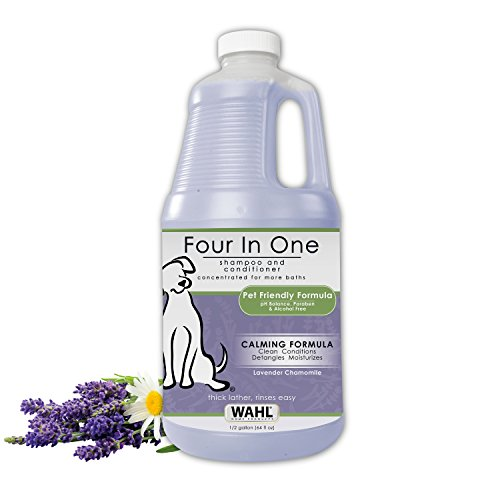 WAHL 4-in-1 Calming Pet Shampoo – Cleans, Conditions, Detangles & Moisturizes with Lavender Chamomile – 64 Oz