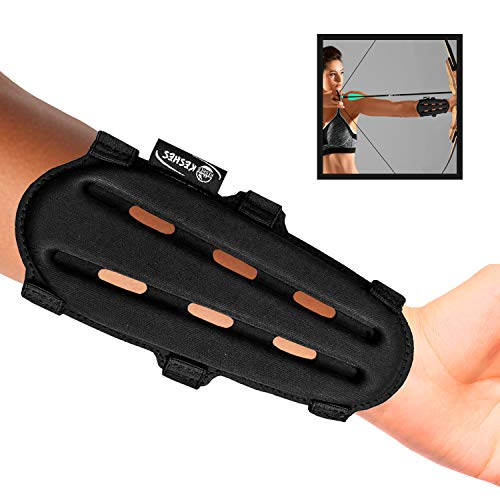 KESHES Archery Armguard Protector Arm Guard - Adjustable Forearm Wrist Protector for Bow Hunting Accessories for Youth & Adults