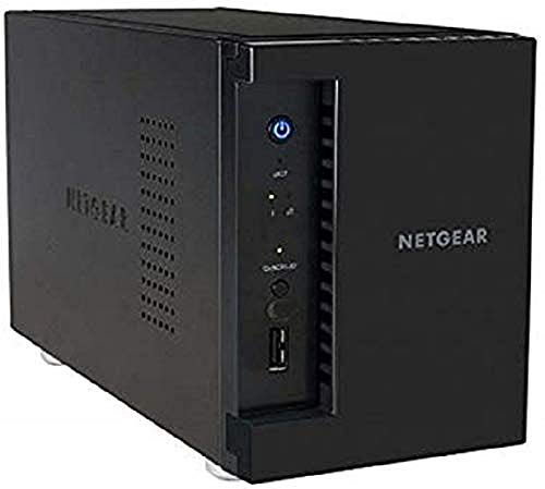 NETGEAR ReadyNAS RN212 2 Bay Diskless Personal Cloud NAS, Desktop & Mobile App, 12TB Capacity Network Attached Storage, 1.4GHz Quad Core Processor, 2GB RAM