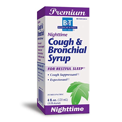 B&T Nighttime Cough & Bronchial Syrup Non-Narcotic Homeopathic 4 oz. (Nature's Way Brands)