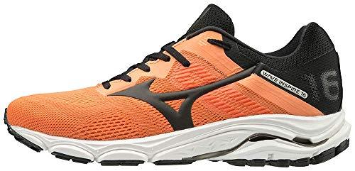 Mizuno Men's Wave Inspire 16 Road Running Shoe, Salmon Buff-Black, 9.5 D US