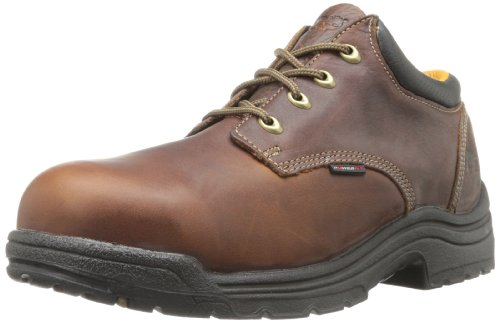 Timberland PRO Men's Titan Safety Toe Oxford,Haystack Brown,9.5 M