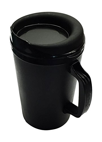 34 Oz ThermoServ Foam Insulated Coffee Mugs - Black