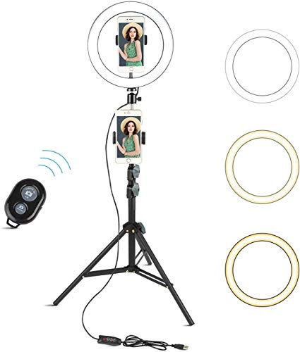 Selfie Ring Light with Tripod Stand, Arespark 10' Light Ring with 60' Tripod Stand & Phone Holder for Vlogging/Make Up/Live Stream/YouTube, Compatible with iPhone/Android, Gift for Girlfriend