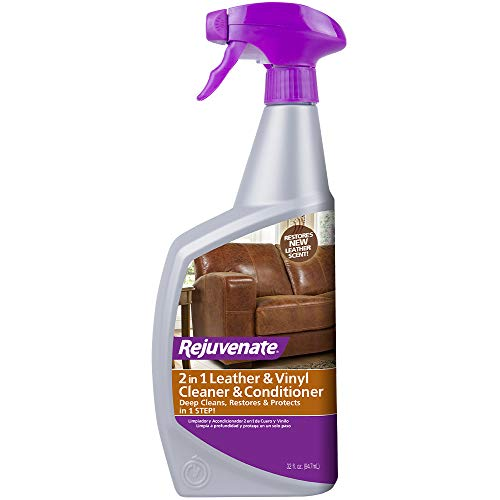 Rejuvenate Leather & Vinyl Conditioner – Rehydrate, Restore Luster and Protect All Leather & Vinyl Surfaces with No Greasy Residue (32 oz)