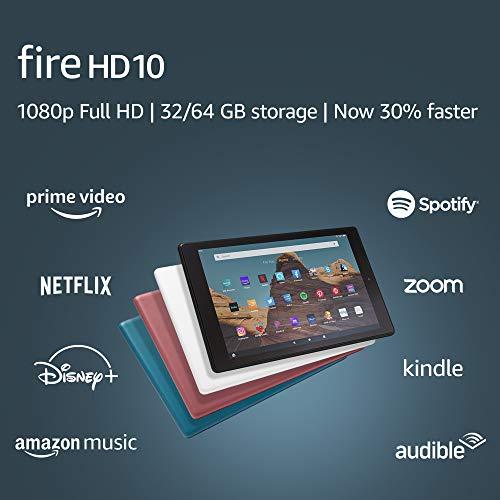 Fire HD 10 Tablet (10.1' 1080p full HD display, 32 GB) – Twilight Blue (2019 Release)