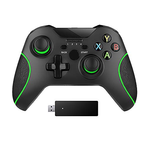 Wireless Controller for Xbox One 2.4GHZ Controller Compatible with Xbox One S/X/Elite, PS3, Windows 7/8/10, Android Phone with Built-in Dual Vibration