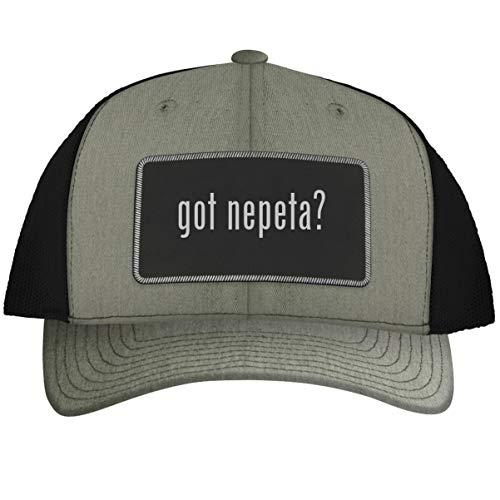 got Nepeta? - Leather Black Metallic Patch Engraved Trucker Hat, Heather-Black, One Size