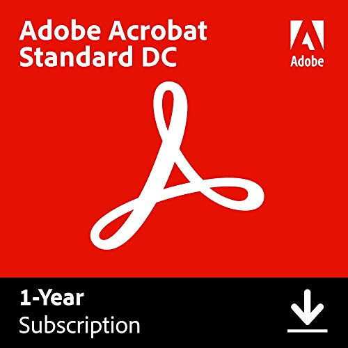 Adobe Acrobat Standard DC | Create, edit and sign PDF documents | 12-month Subscription with auto-renewal, PC