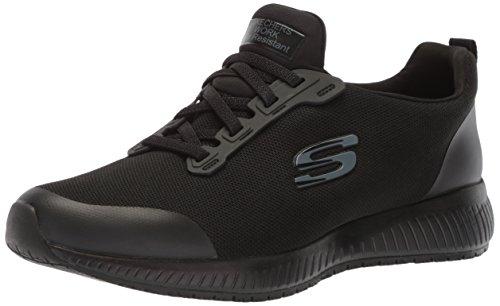 Skechers Work Squad SR Black Flat Knit 10