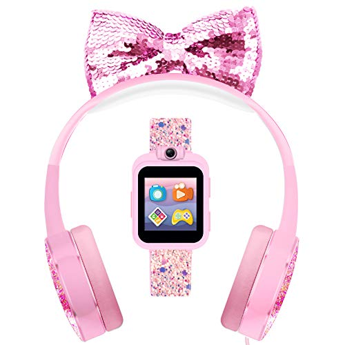 PlayZoom 2 Kids Smartwatch & Headphones - Video Camera Selfies STEM Learning Educational Fun Games, MP3 Music Player Audio Books Touch Screen Sports Digital Watch Gift for Kids Toddlers Boys Girls