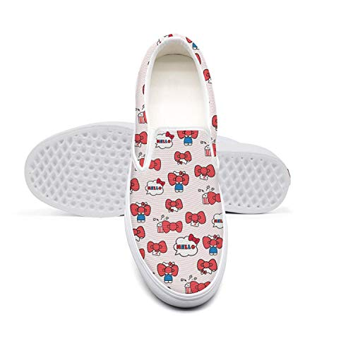 NZKHDbbaei Women,s Training Canvas Shoes for Women's Cute Cat Kittens Desinger Slip-on Skate Sneakers