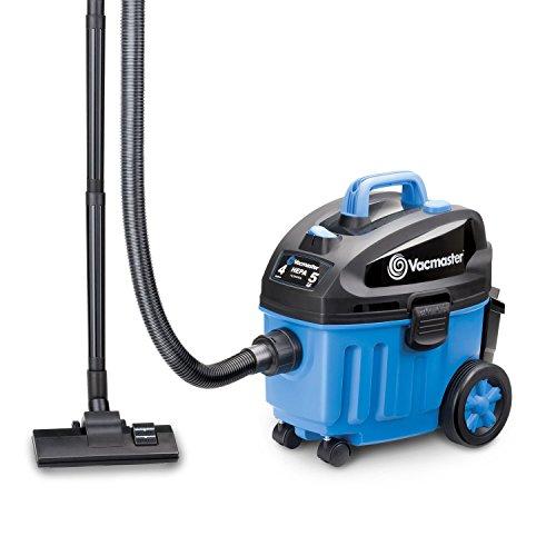 Vacmaster 4 Gallon, 5 Peak HP with 2-Stage Industrial Motor Wet/Dry Floor Vacuum, VF408 (Renewed)