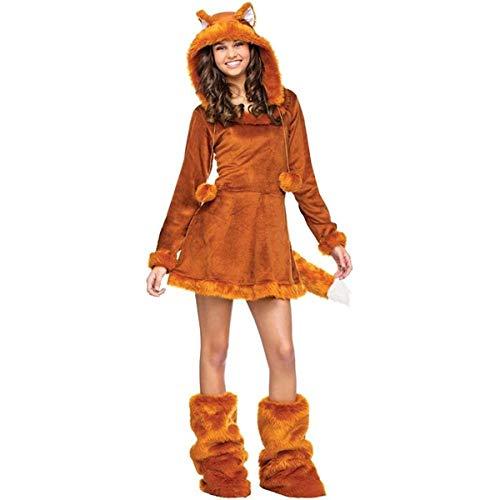 Fun World Sweet Fox Teen Costume, Tan, One Size