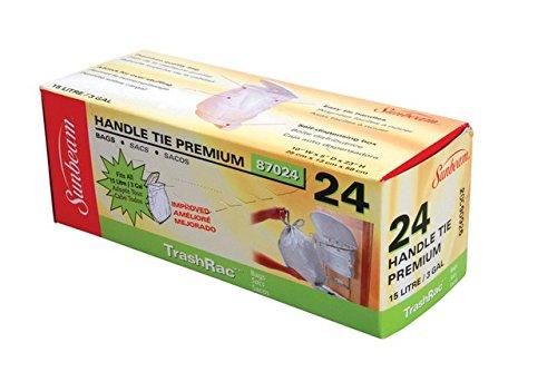 Sunbeam Trashrac 87024 3 gal Trash Bags44; Pack of 24