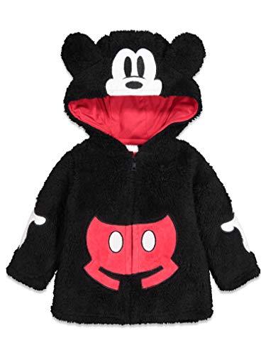 Disney Mickey Mouse Toddler Boys Sherpa Fleece Costume Hoodie Zipper 3T