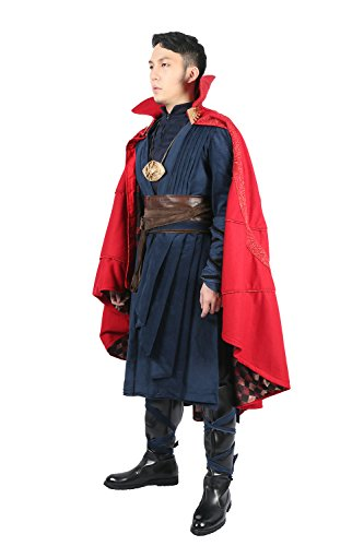 Strange Costume Deluxe Dr Outfit Red Cape Full Set Halloween Cosplay Costume M