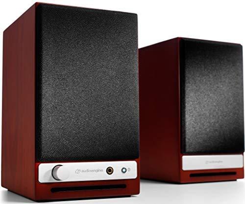 Audioengine HD3 Wireless Speaker | Desktop Monitor Speakers | Home Music System aptX HD Bluetooth, 60W Powered Bookshelf Stereo Speakers, AUX Audio, USB, RCA Inputs/Outputs, 24-bit DAC (Cherry Wood)