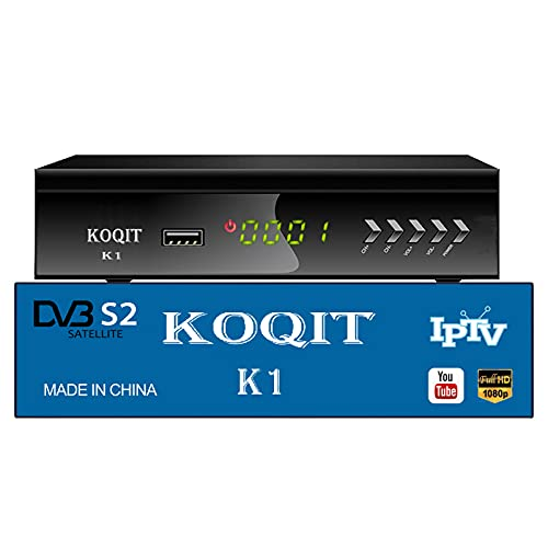 Koqit Fta Satellite Receiver DVB-S2 Galaxy 19 Clear YouTube tv Box Free to Air DVB S2 Satellite Television Receivers Dvr Recorders Digital tv Dish Receiver Sat Finder Records Playback WiFi Decoder