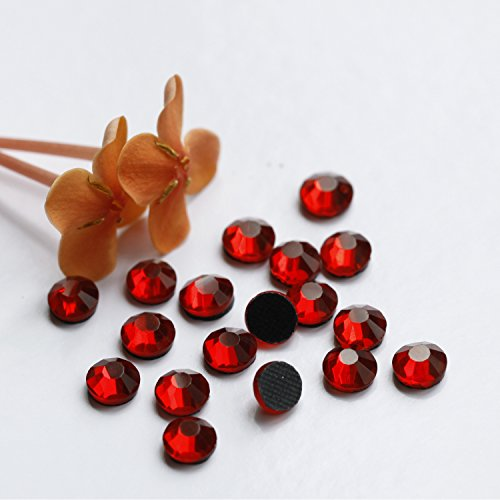 1440pcs Ss16 About 4mm Dmc Iron on Hot Fix Crystal Rhinestones Diamond Gems Wholesale (Red)