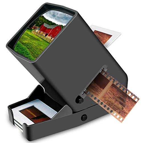 35mm Slide Viewer LED Transparency Viewer, 3X Magnification, Handheld Viewer for 35mm Slides & Film Negatives