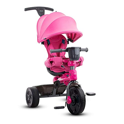 Joovy Tricycoo 4.1 Kid's Tricycle, Push Tricycle, Toddler Trike, Pink