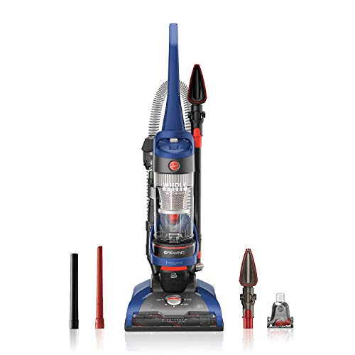 Hoover UH71250 WindTunnel 2 Whole House Rewind Corded Bagless Upright Vacuum Cleaner with HEPA Media Filtration, Blue