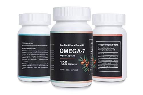 Sea Buckthorn Farm Oil Blend Omega 7 Nutritional Supplement - Sea Buckthorn Oil Omega 3 - Sea Buckthorn Oil Capsules Omega 3 6 9 - Omega 3 Vegan Supplement - Omega 3 Vegan Softgel - 120 Capsules
