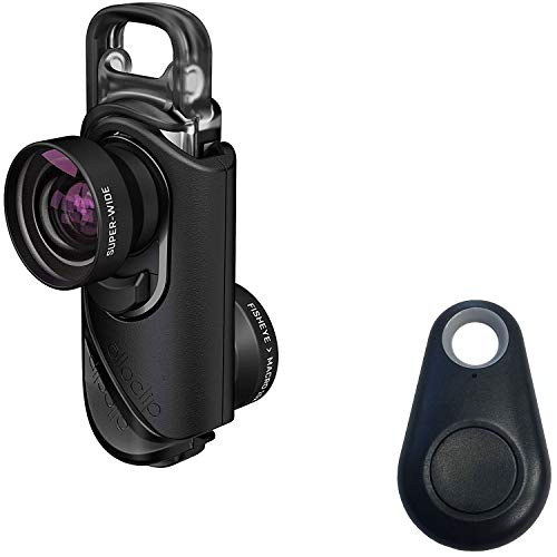 olloclip 3-in-1 Lens Kit Includes: Fisheye, Super-Wide and Macro 15x Premium Glass Lenses for iPhone 8/8 Plus & iPhone 7/7 Plus with Selfie Bluetooth Remote Shutter