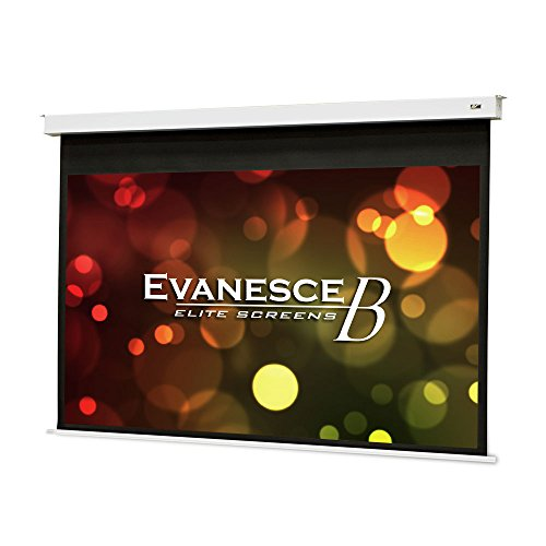 Elite Screens Evanesce B, 100' 16:9, Recessed in-Ceiling Electric Projector Screen with Installation Kit, 8k/4K Ultra HD Ready Matte White Fiberglass Reinforced Projection Surface, EB100HW2-E12