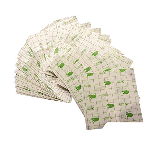 100pcs Waterproof Transparent Stretch Adhesive Bandage Waterproof Bandage Roll Transparent Film Dressing Second Skin Healing Protective Clear Adhesive Bandages Tattoo Supplies Products (2.8*3.1inch)