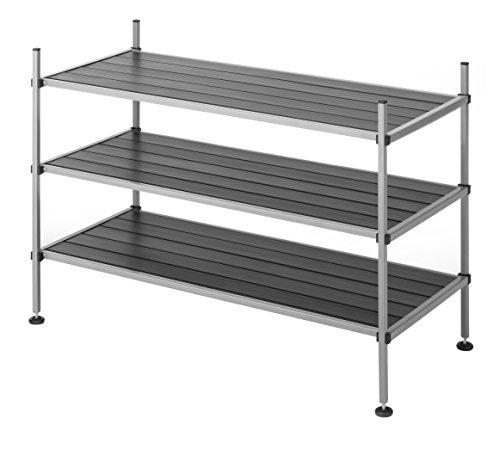 Whitmor 3 Tier Closet Storage Shelves - Shoe Rack and Home Organizer