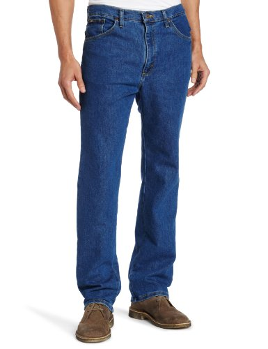 Lee Men's Regular Fit Straight Leg Jean, Pepper Wash Stretch, 46W x 30L
