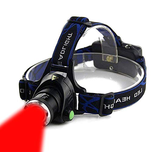 AuKvi Red Light Headlamp,3 Mode Red LED headlamp,Zoomable Red headlamp,Adjustable Focus Red LED Headlight For Astronomy, Aviation, Night Observation,etc