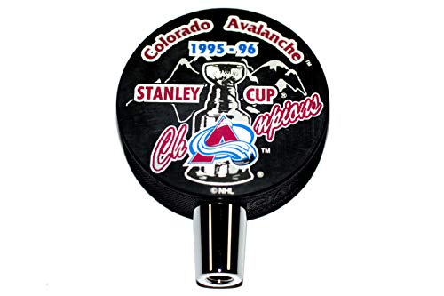 1996 Colorado Avalanche Stanley Cup Champions Hockey Puck Beer Tap Handle