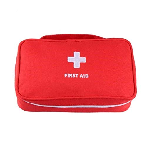 StoreBao First Aid Bag Travel Rescue Bag Empty Pouch (Red, Pack of 1)