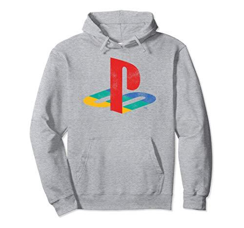 Playstation Playstation Logo Retro Distressed Pullover Hoodi