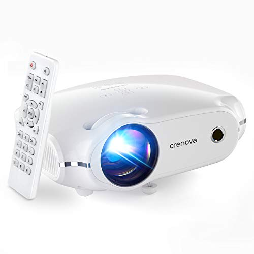 Crenova Mini Projector,1080P Supported Outdoor Movie Projector, 4500 Lux Portable Phone Projector for Home Theater with Max 200' Projection Size, Compatible with iPhone, Android, TV Stick, HDMI,USB