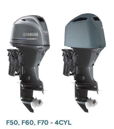Oceansouth Custom Fit Vented Cover for Yamaha in-LINE 4 Cylinder Outboards F50, F60, F70, T50, T60