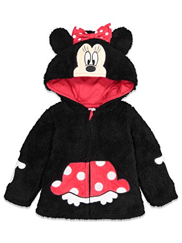 Disney Minnie Mouse Toddler Girls Sherpa Fleece Costume Zipper Hoodie 2T