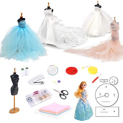 TESMAINS Fashion Wedding Dress Design Kit- Design and Sewing Kit -for Teenagers Kids Girls Adults