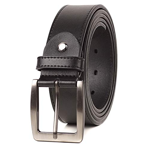 BelePala Big and Tall Belts for Men Black Waist 56 & 58 Inch