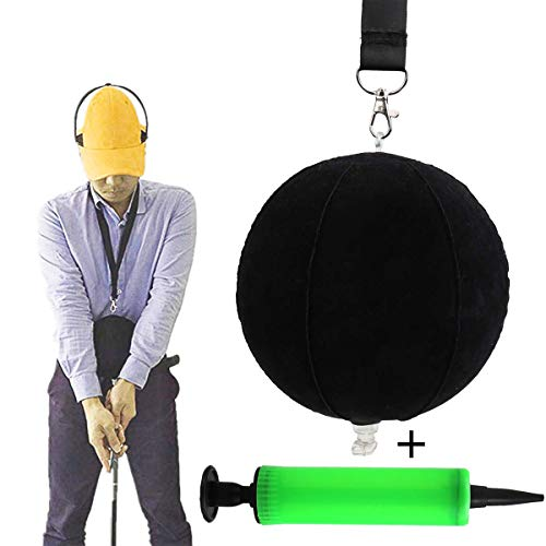 Vukayo Golf Swing Trainer Ball,Golf inflable Ball, for The Player practing Posture Correction Training