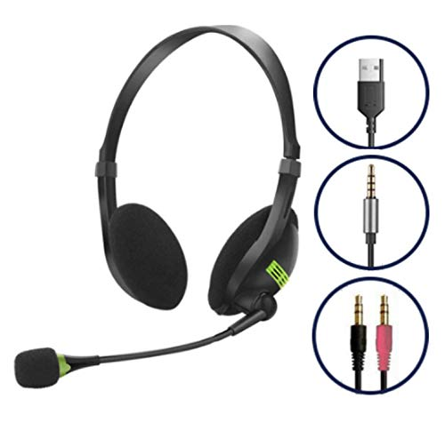Kids Headphones with Microphone for School, Headset and mic for Computer, Chromebook, Laptop, Phone. Perfect for Zoom, Skype, Distance Learning …
