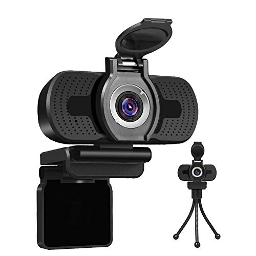 LarmTek 1080P Full HD Webcam with Webcam Cover,Computer Laptop Camera for Conference and Video Call,Pro Stream Webcam for Online Class, Zoom Meeting Skype Facetime Teams, PC Mac Desktop Smart TV
