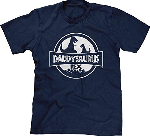 Blittzen Mens Daddysaurus Rex, XL, Navy Blue